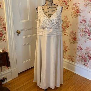Beautiful Formal Tan Sequin Lace Dress